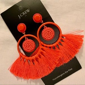 J. Crew Salmon Earrings